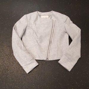 Rachel Roy metallic silver jacket